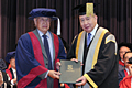 Prof SAW Swee-Hock on receiving the Honorary University Fellowships (HUF) 2013 in recognition of his tremendous contributions to the University and the community