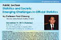 Public Lecture by Prof. Paul Cheung on Tuesday, November 15, 2011.