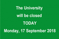 Important announcement: Given the safety issue and the possible traffic chaos, ALL classes will be cancelled and the Department of SAAS and other University offices (except those providing essential services) will be closed today (17 Sept).