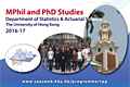 Application for MPhil /PhD Studies 2016-17 and Fellowships and Scholarships.